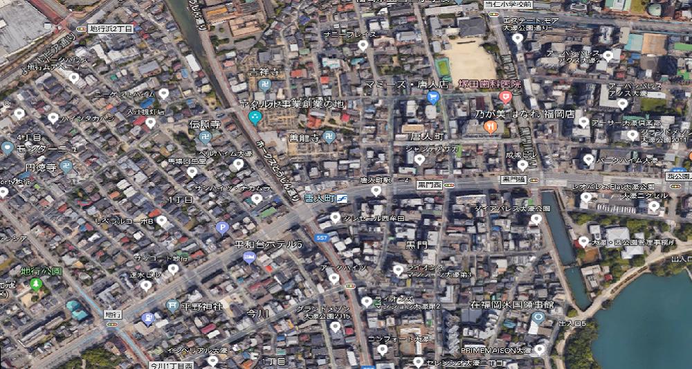 福岡市中央区唐人町 建貸・土地貸  N-H558